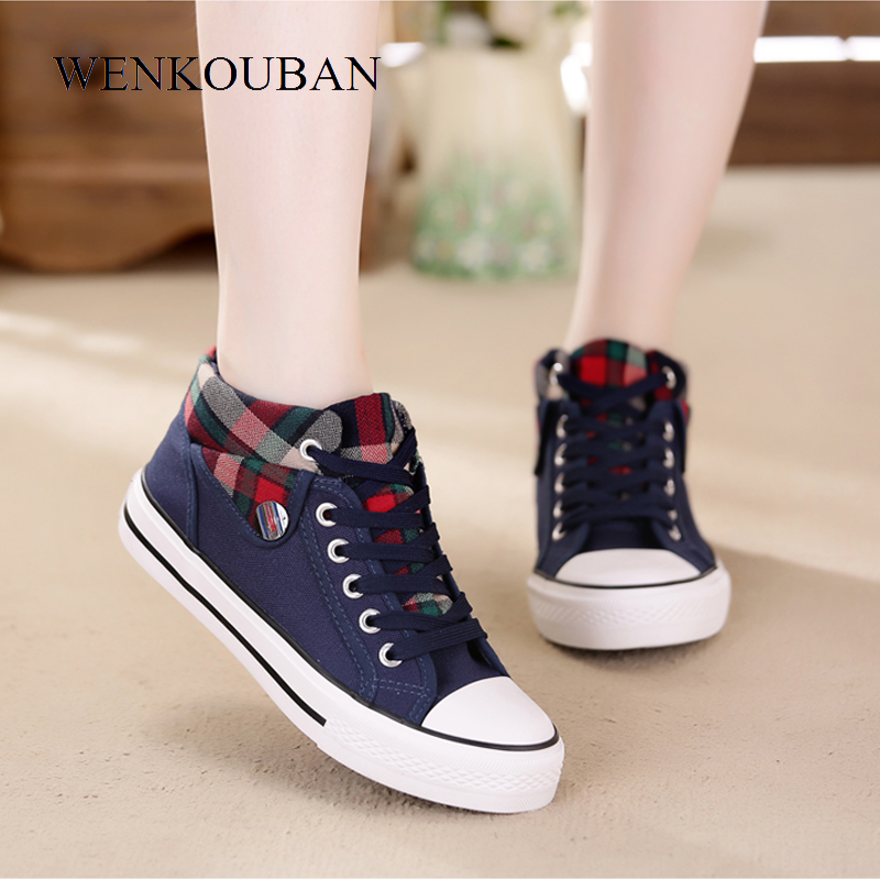 Image 3 - Summer Sneakers Women Casual Canvas Shoes Basket Femme Denim Ladies Trianers Fashion Women Vulcanized Shoes Zapatos Mujer 2020Womens Vulcanize Shoes   -