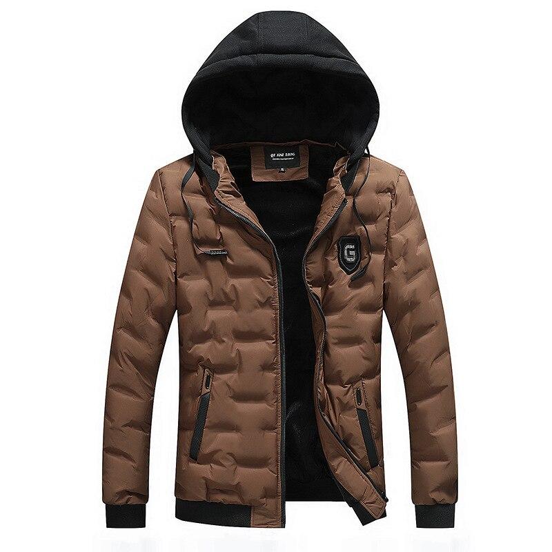 New Men Jacket Coats Warm Winter   Parka   Jackets Casual Men   Parka   Hooded Outwear Quality Slim Jacket L-4XL Windproof Coat