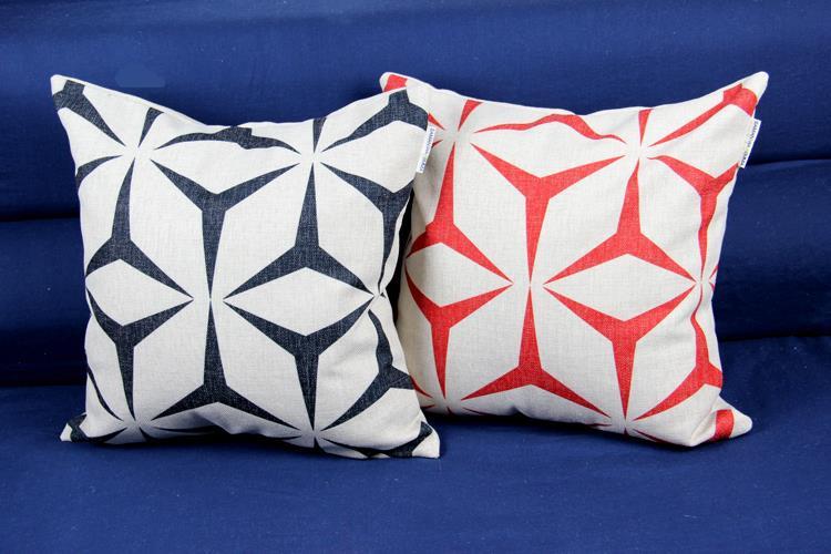 Modern European Art  Geometry  Cushion  Linen Pillow  Pillow   Car Office Home Decor Sofa Cushions
