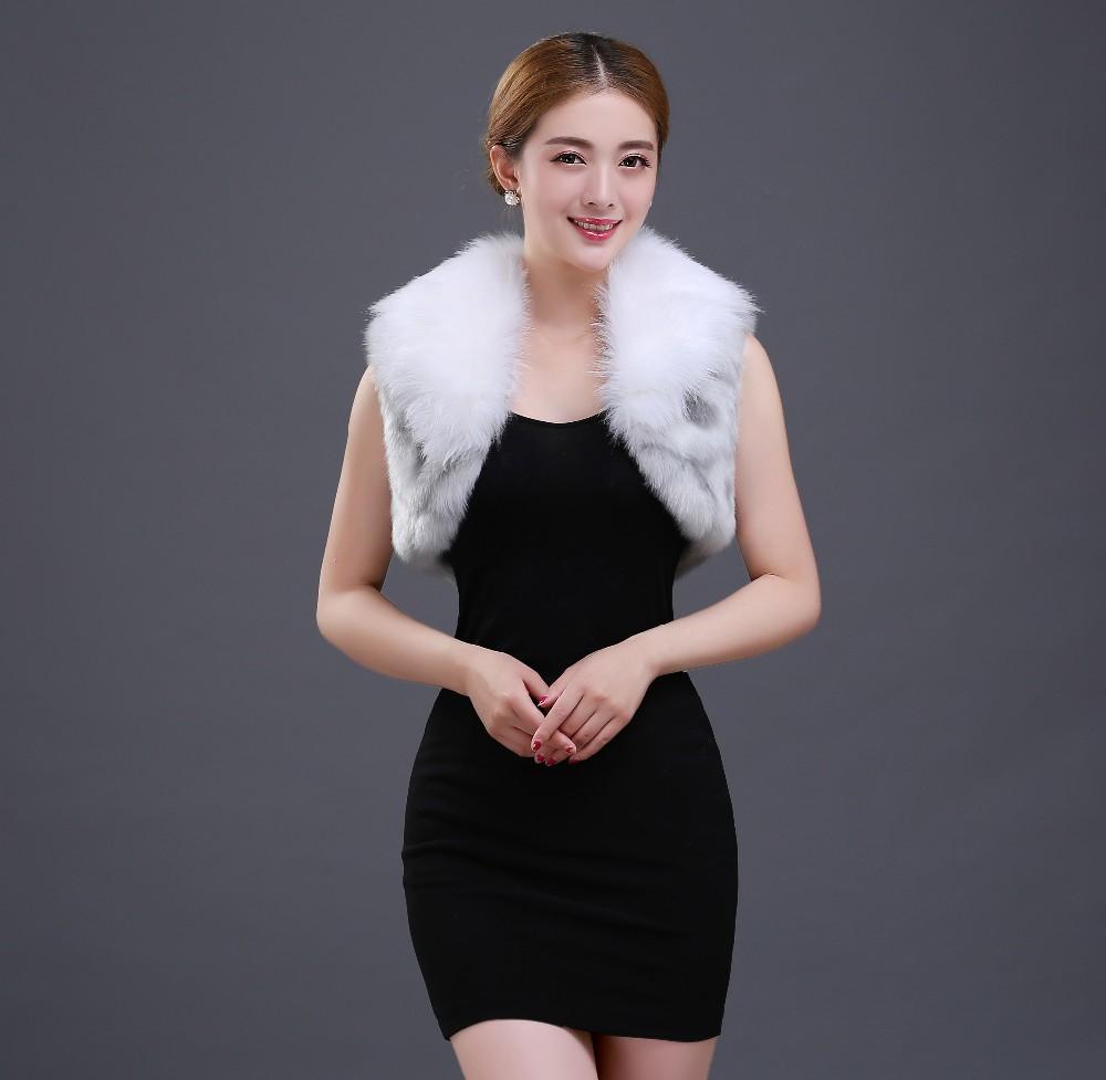 White Silver Bridal Fur Jacket