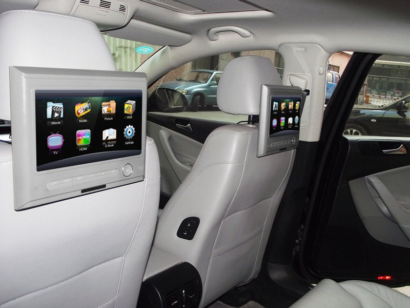 Touch Screen Headrest Car TV Set Monitor Built In Analog