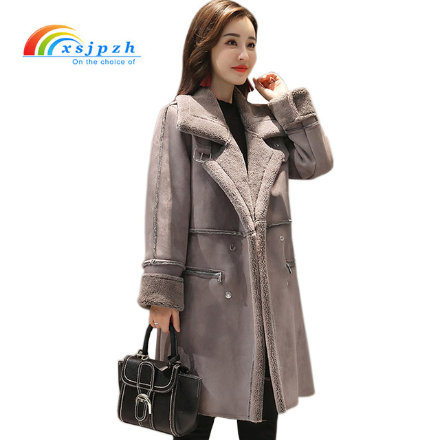 Manteau femme faux daim