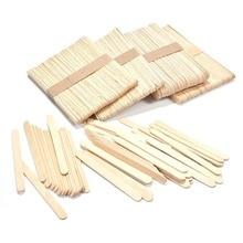 50 шт. деревянные палочки для мороженого, натуральные деревянные палочки для мороженого, Детские ручные палочки для приготовления мороженого DIY, палочки для мороженого, инструменты