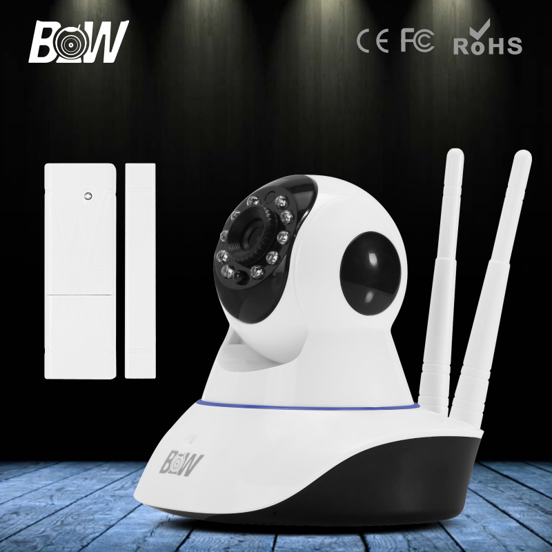 P2P Wifi IP Camera 720P CCTV HD Security Camera Wireless IP Baby Monitor Night Vision Support Micro TF Card Door Sensor Alarm 720p hd wifi camera p2p wireless baby monitor security camera cloud storage night vision camera compatible with sensor detector