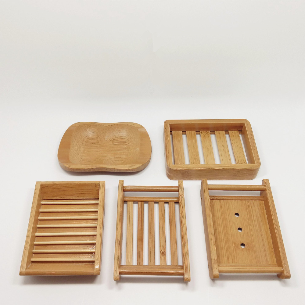 Natural Bamboo Soap Dish Creative Japan Style Bathroom