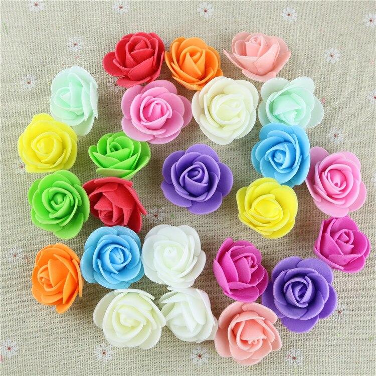 50 шт. искусственные мини-пенополиэтилен розы ручной работы DIY свадьбы домой украшение партии DIY Скрапбукинг венок поддельные цветок