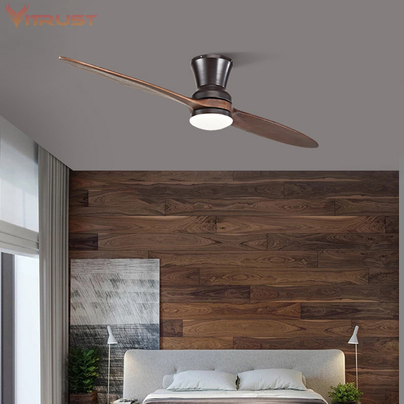 Two Blade Indoor Ceiling Fan Dimmable Ceiling Fan With Led