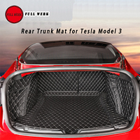 Leather Car Styling Rear Trunk Mat Main Pad Cushion Protector for Tesla Model 3 Interior Accessories