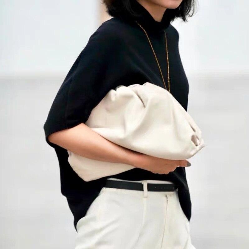 2019 nouveau haute qualité en cuir de vache sac à bandoulière femmes Simple solide boulettes paquet dames personnalité grande capacité sacs à main