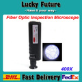 Mano 400X de fibra óptica de inspección microscopio óptico con 1.25 y 2.5 mm adaptadores