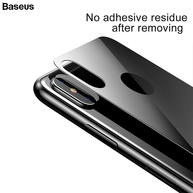 huge discount cd6ed f0fa6 US $12.12 |BASEUS Full Coverage Curved Sturdy Tempered Glass Rear Protector  For iPhone XS / XS Max / For iPhone XR Back Film Protection-in Phone ...