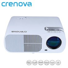 Crenova 2600 Lumens Video Projector Home Cinema Theater Projector Support 1080P HD with 5.0 Inch LCD TFT Display Proyector