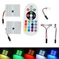 T10 5050 SMD 16 Colors RGB LED Panel Car Auto Interior Reading Map Lamp Bulb Light Dome Festoon Remote Controller Flash/Strobe