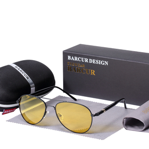 Image 2 - BARCUR солнечные очки ночного видения мужские ночные поляризованные очки для вождения антибликовые очки