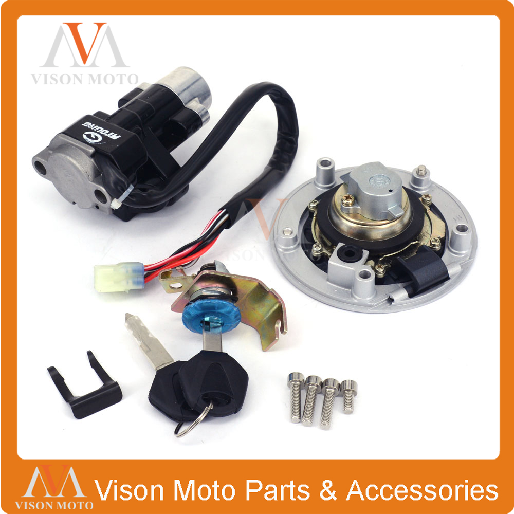 Street Bike Ignition Switch Fuel Gas Cap Seat Lock Key Set For SUZUKI GSF 650 1200 1250 GSX 650 1250 GSXR 600 750 1000 DL SFV SV стоимость