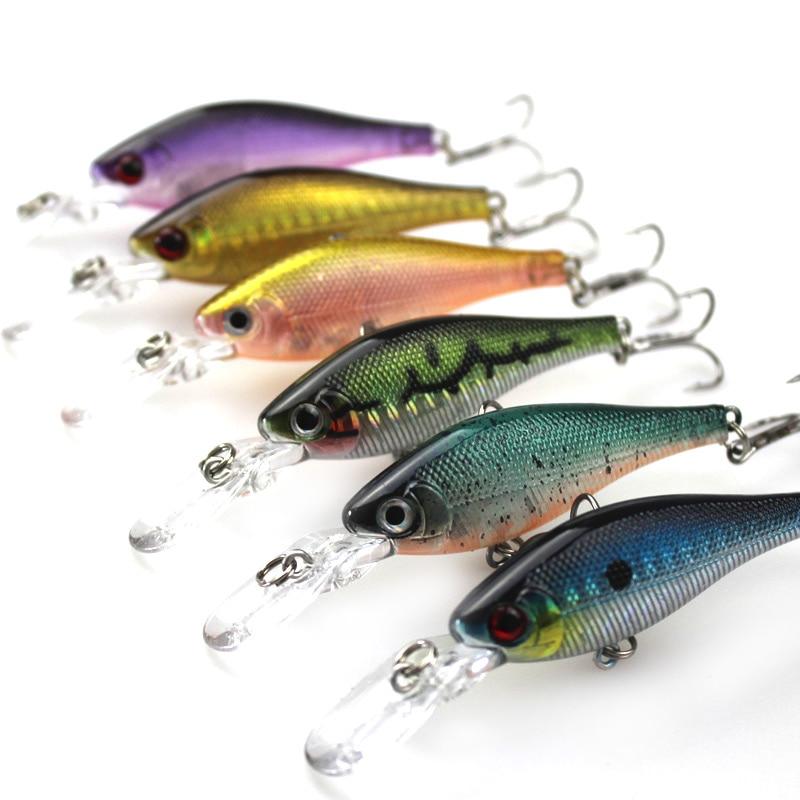 6Pcs Cilësia më e lartë e Peshkimit Minow Vendosja e joshur Wobler - Peshkimi - Foto 2