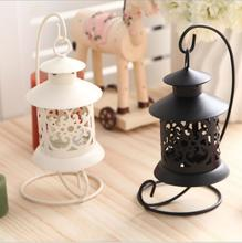 Metal carved Tea light Holder Iron Candle holder with Hanger Classic Iron Decor Lantern Mix color for wedding Party House Decor