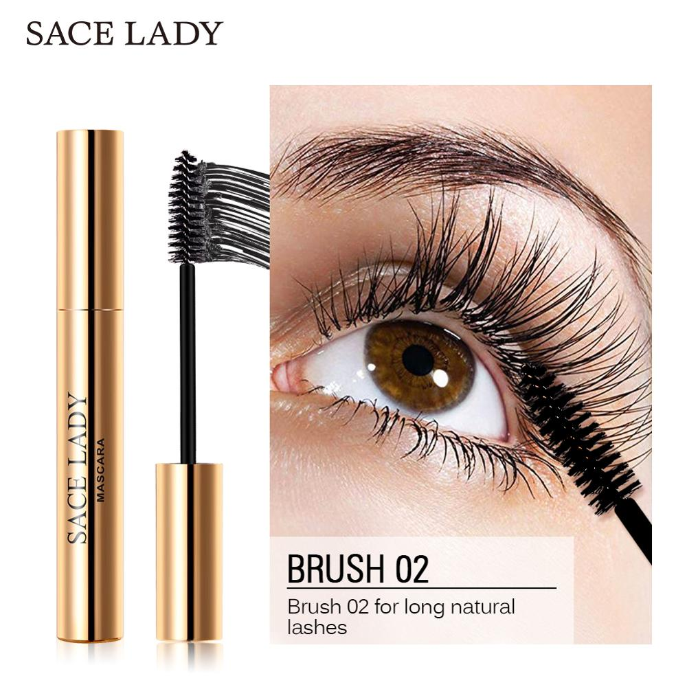SACE LADY Eyelash Mascara Makeup Curling Thick Eyelash Waterproof 4D Silk Fiber Rimel Extension Volume Eye Lashes Cosmetic 3