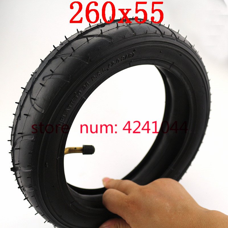 Tires 260x55 tyre&inner tube fits Children tricycle, baby trolley, folding baby cart, electric scooter, children's bicycle(China)