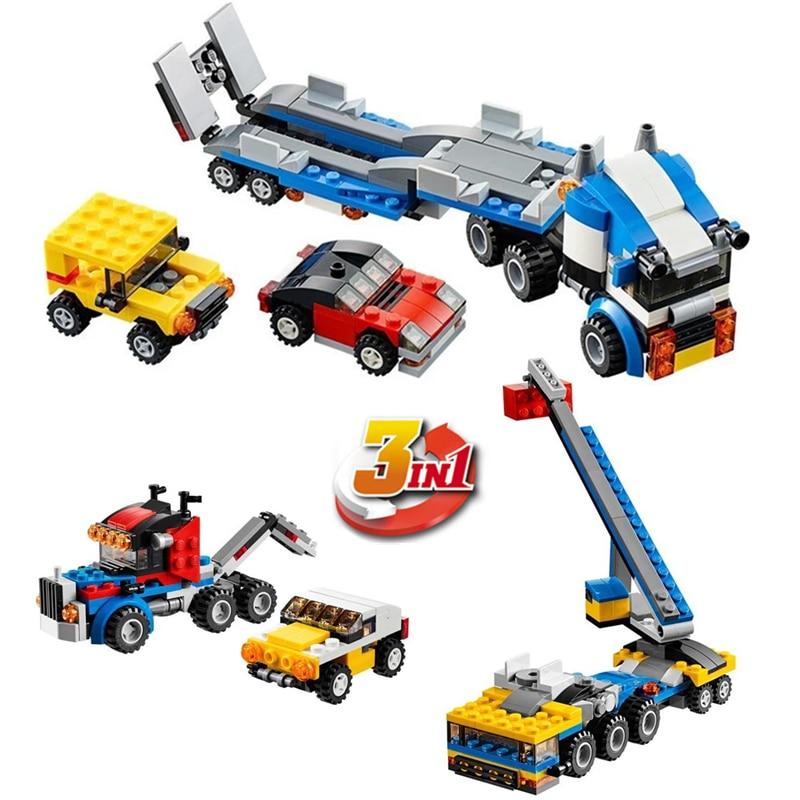 DECOOL City Creator 3 en 1 Transportador de vehículos Grúa Bloques - Juguetes de construcción - foto 2