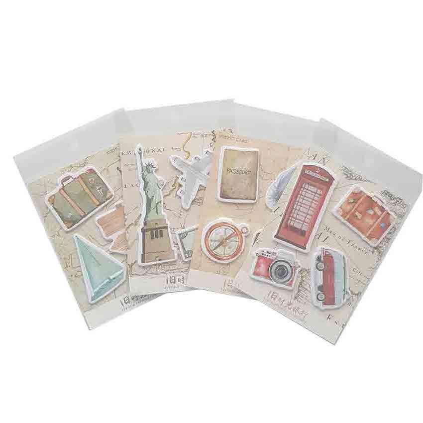 1 упаковка/lot старый путешествие во времени серии Новый Ретро Kawaii ручной работы наклейка для изделий ручной работы