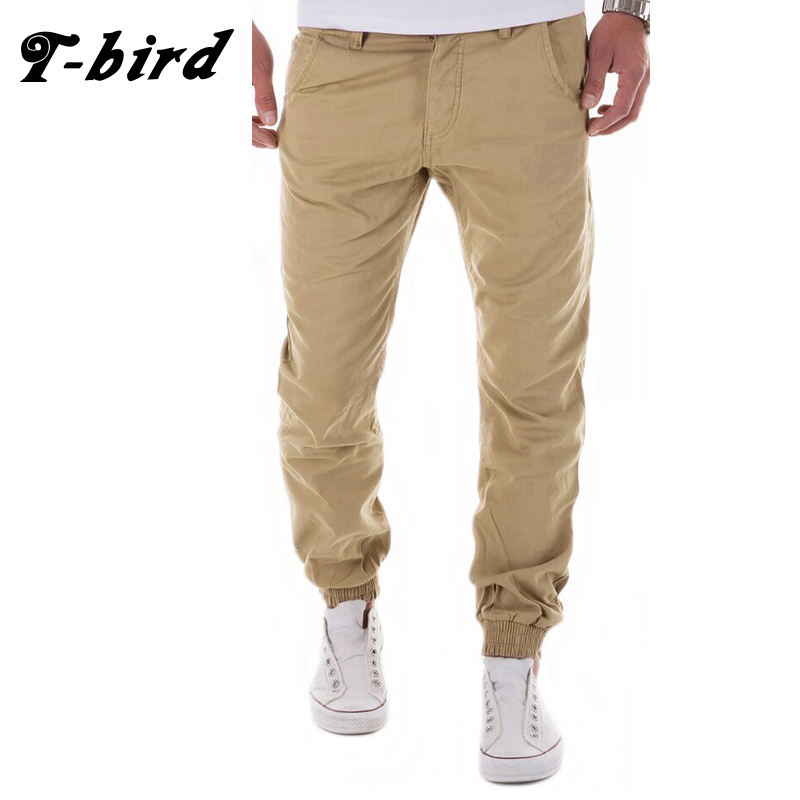 T-Bird 2018 Brand Sweatpants Casual Joggers Solid Color Compression Pants Men Cotton Trousers Calabasas Cargo Pants Mens Legging