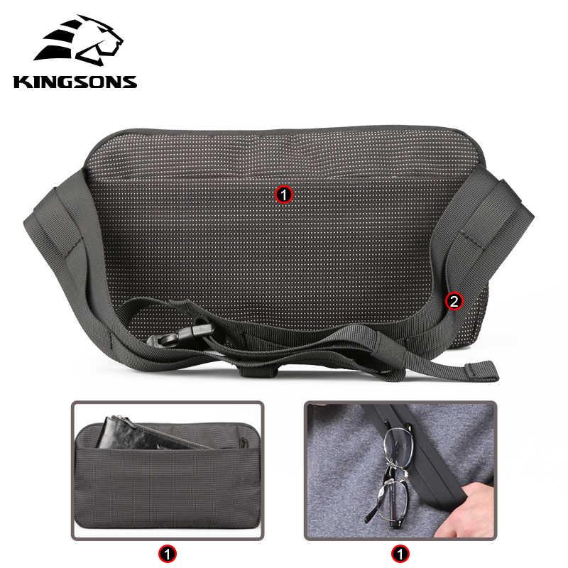 Kingsons saco de peito pacote de cintura para homens pequeno ombro único pacote de volta estilo saco de bum cinto de dinheiro das mulheres viajando saco do telefone móvel