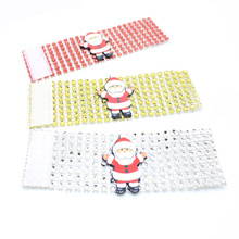 Christmas Napkin Rings Santa Claus Shaped Holder Tableware for Home Table Decorations 100 pcs/lot