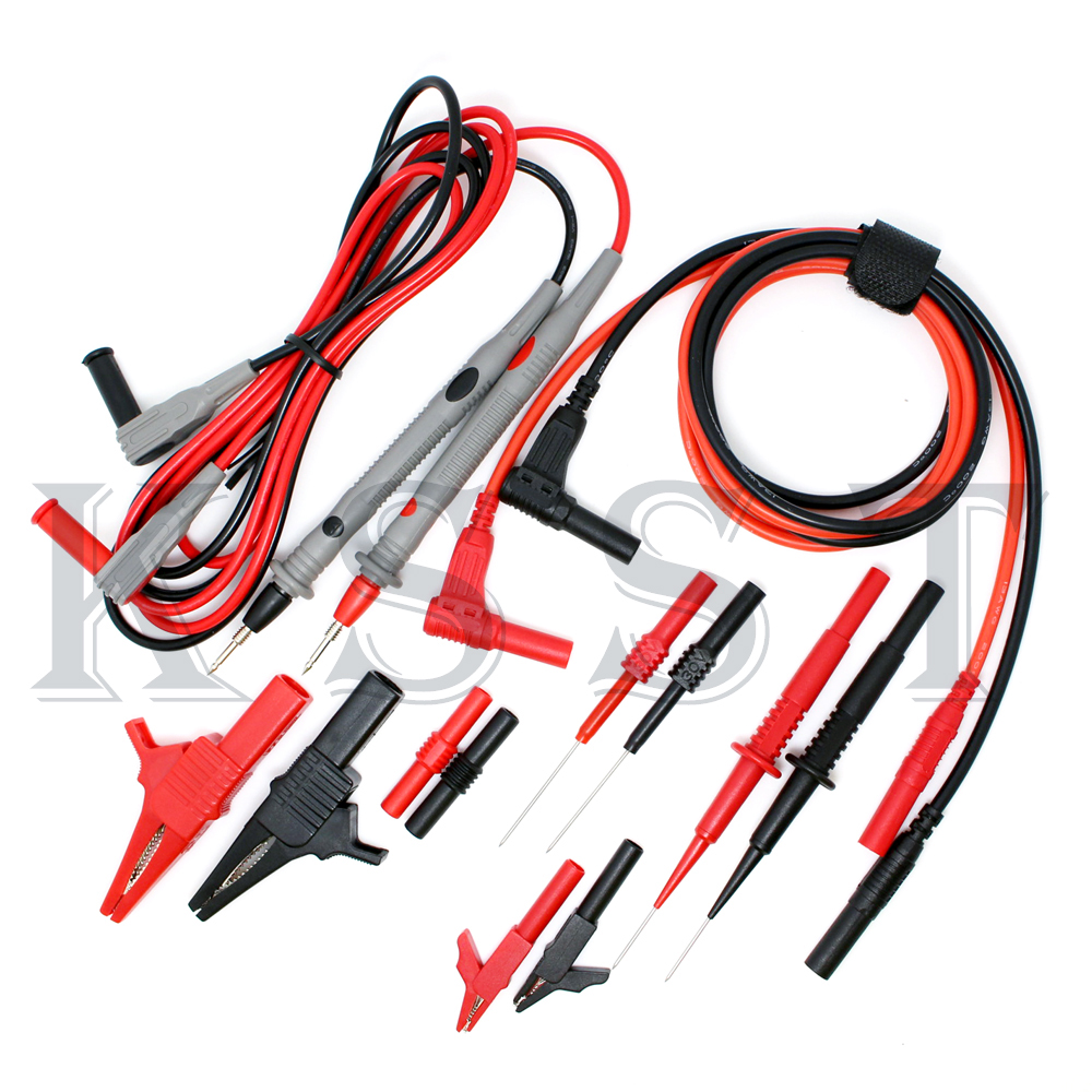 DMM07E multimeter probe kit test lead Electronic Specialties Test Lead kit Test probe hook + alligator clip moos джинсовые брюки