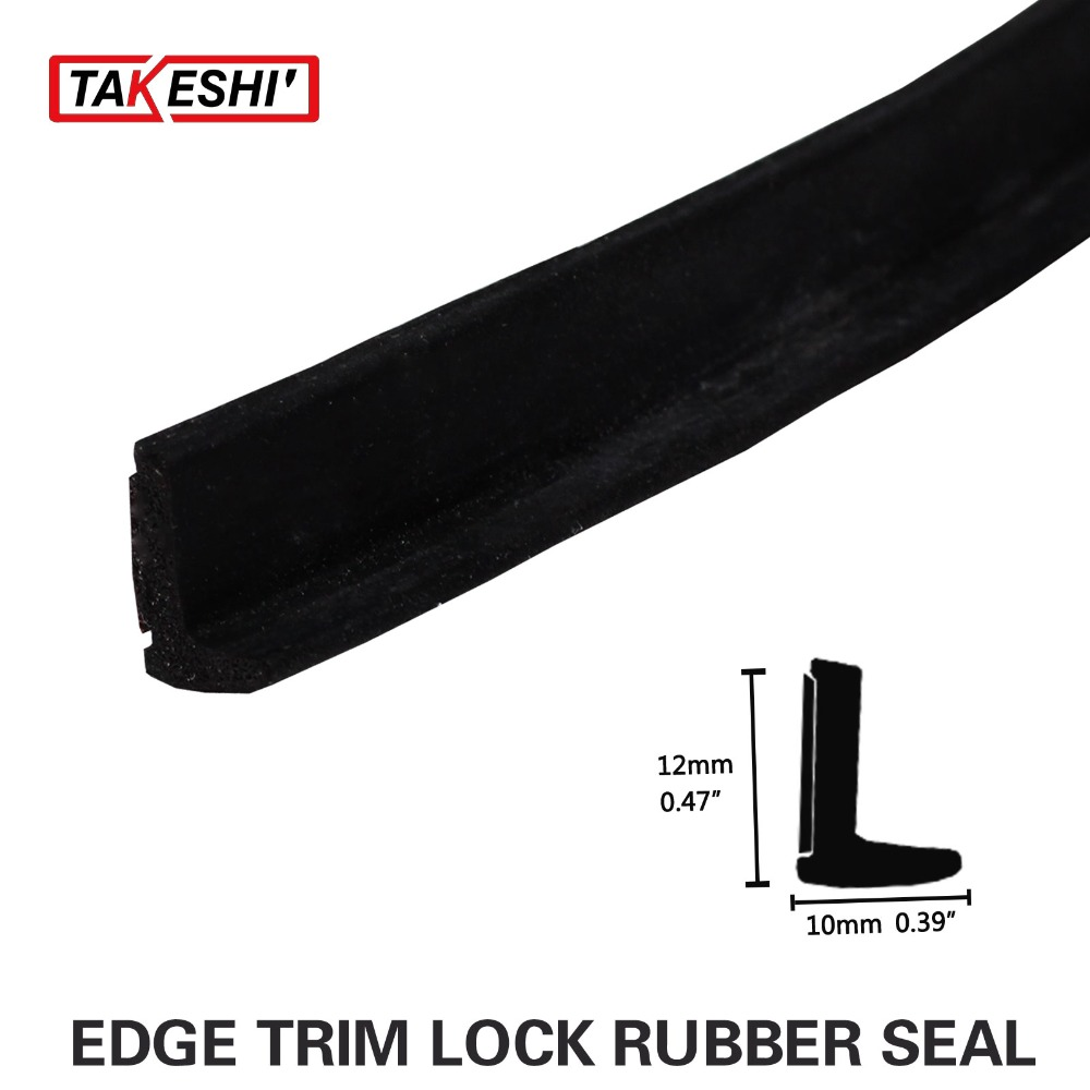 118 Quot 300cm L Shape Black Rubber Seal Strip Car Truck