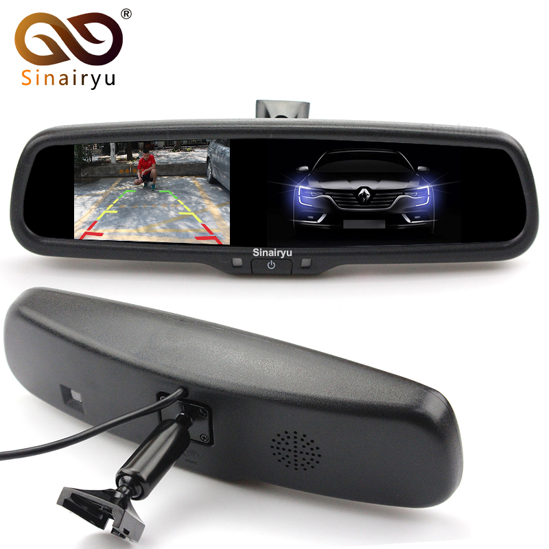 Фото 4.3 Inch HD 800*480 Auto Dimming Special Bracket TFT LCD Car Parking Rear View Rearview Mirror Monitor Video Player 2 CH Input. Купить в РФ