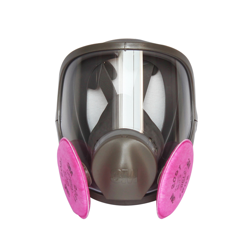 3M 6800+2097 Full Face Mask Reusable Respirator Filter Mask Anti Solid&liquid particulate matter/Oily particles/Organic LT0900 3m 6800 6001 respirator full facepiece reusable face mask filter protection mask anti organic vapor 7 items for 1 set lt100