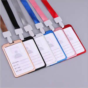 Aluminum Alloy Card Holder Business Card ID Badge Holders Metal ID Business Case Office School nurse lanyards id badge holder