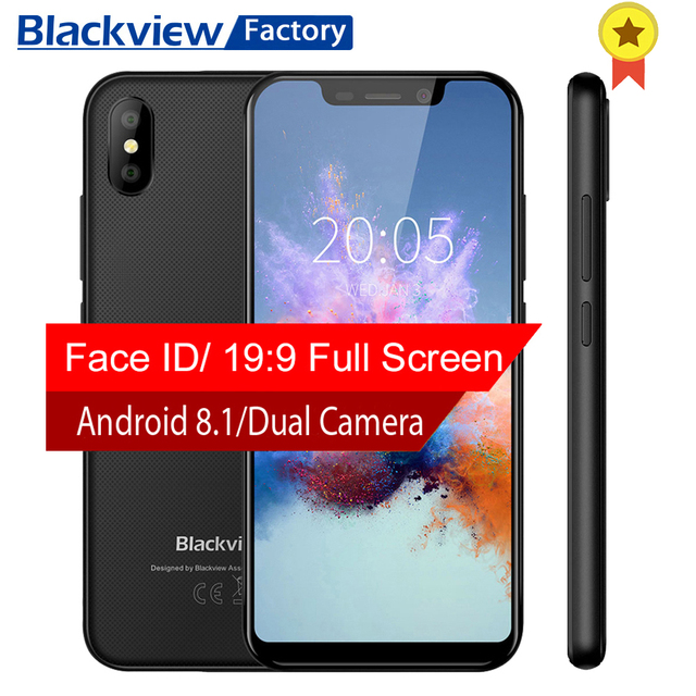 BLACKVIEW A30 smartphone Android 8.1 Quad core 5.5'' 19:9 display 2G+16GB 8.0MP Dual Camera mobile phone 3G cell phone unlocked
