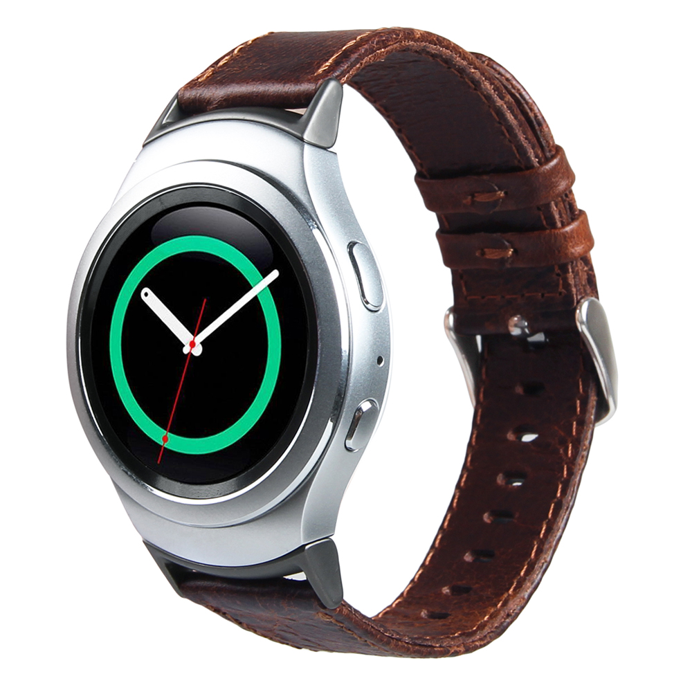 V-MORO Genuine Leather Watch Strap Replacement Band for Gear S2 Band  Wrist Strap with Metal Adapters For Gear S2 R720 Coffee александрова наталья николаевна э смешдет м криминал в цветочек