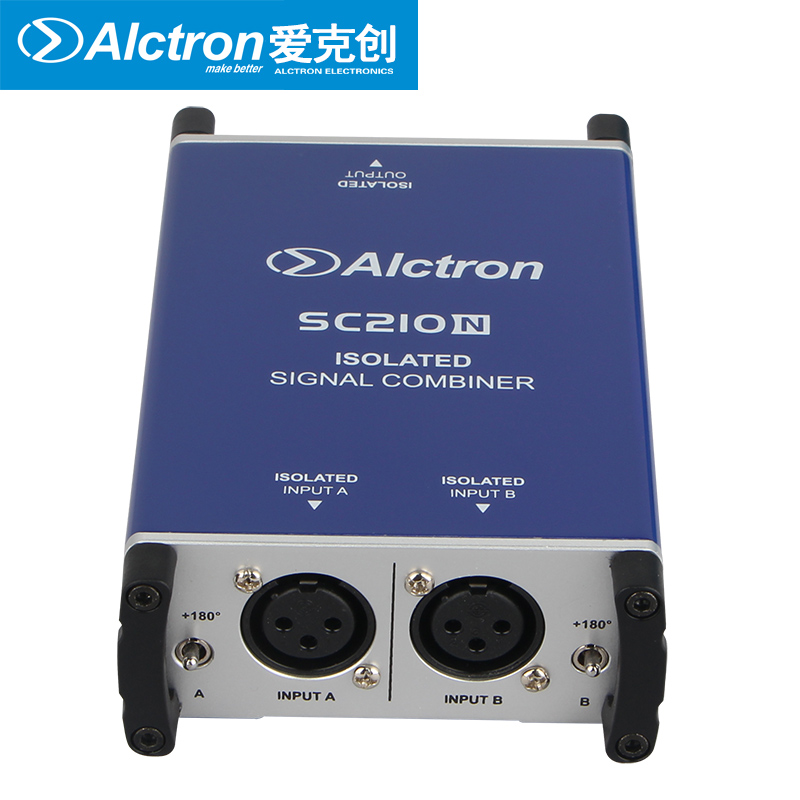 Alctron SC210N professional DI box microphone combiner combine two microphone balanced signals into one balanced microphone