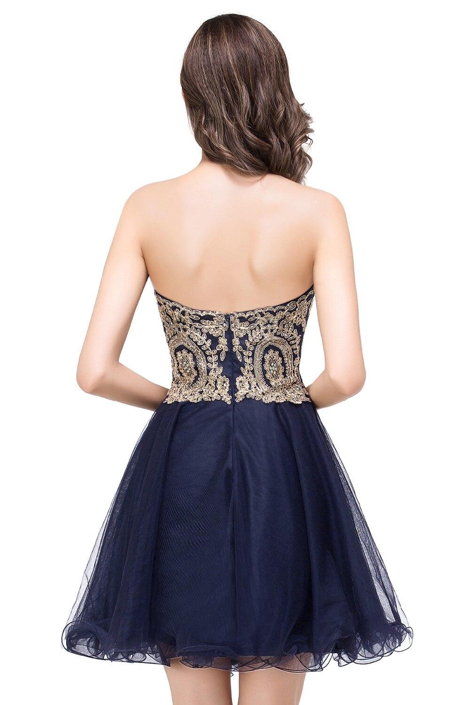 Vestido de Festa Curto Sexy Backless Burgundy Lace Short Prom Dresses Cheap 7 Colors Real Image Short Evening Party Dress 1