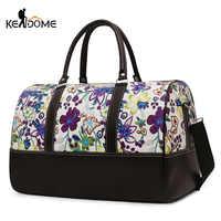 Bolso deportivo de gimnasio para Mujer, bolsos de hombro para Fitness, bolso de viaje, Bolsa de entrenamiento con bordado de flores, Bolsa de Deporte para Mujer XA305WD