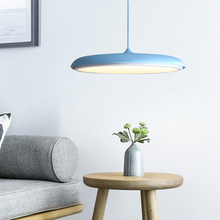 Kitchen Island Lamp Blue Pendant Lighting Bar Modern LED Pendant Light Hotel Lights Room Study Office Ceiling Lamp Bulb Include