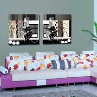 Hiện đại Tóm Tắt Flower Canvas Vẽ Tranh Flower Vase Hình Ảnh Cho Living Room Background on canvas có khung
