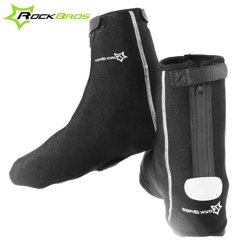 ROCKBROS Mountain Road <font><b>Bike</b></font> Cycling Outdoor Sports Thermal Fleece Shoes Cover Winter Thicken Waterproof Windproof Warm Overshoes