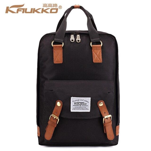 Kaukko Women Knapsack Preppy Style School Bags Simple The University Travel Large Capacity Laptop Backpacks For