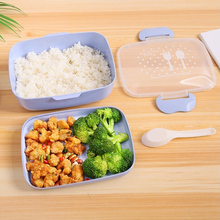 BPA Free Lunch Box Cartoon Environmental Lunch Box, Microwave Oven with Spoon Portable Picnic Food Storage Box for Children large capacity microwave lunch box with spoon