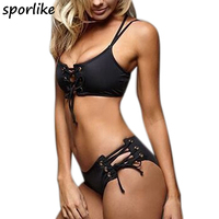 2017 Sexy Bikinis Women Swimsuit Bandage Halter Beach Wear Bathing Suits Push Up Swimwear Female Brazilian