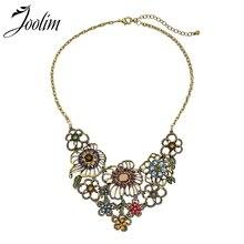 2018.11.11 Joolim Colorful Flower Garden Statement Collar Necklace Fashion