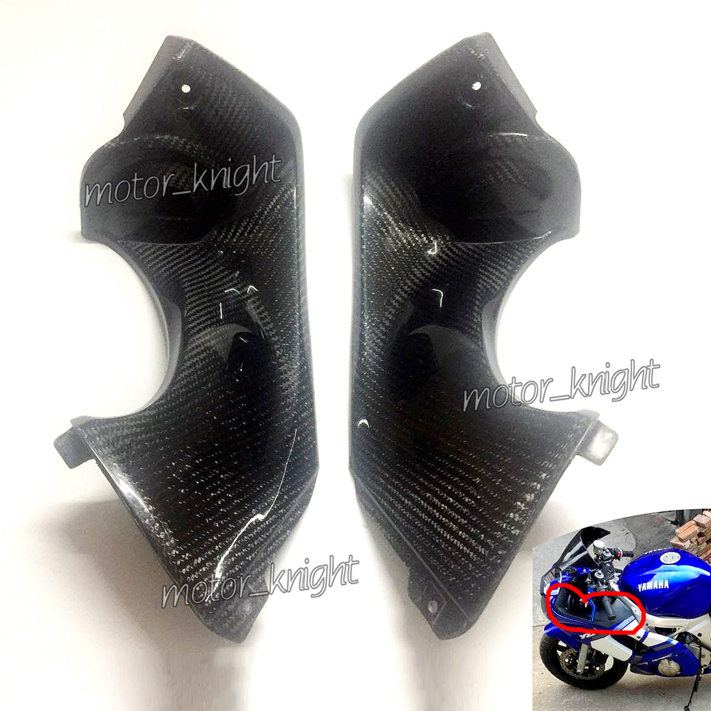 Motorbike Parts New Carbon Fiber Look Ram Air Tube Cover Fairing Parts For Yamaha YZF R6 1998 1999 2000 2001 2002