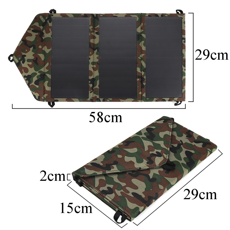 25W 5V Portable Double USB Camouflage bag Solar panels Solar charging folding backpack Photovoltaic charging system portable folding 5v 15w double usb port solar charger mobile phone power mp3 mp4 gps camera game solar panels outdoor charging
