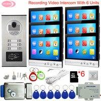 9 видеодомофон с записью Видеозвонок 2 6 квартира видеозвонок с монитором для двери видео дверной звонок с замком