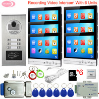 9 Video Intercom With Recording Video Call 2 To 6 Apartment Video Call With Monitor for Door Security Video Door bell With Lock