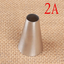 VOGVIGO #2A Round Cake Nozzles Pastry Tips CupCake Cream Decorating Tool Stainless Steel Cupcake Cookie Piping Nozzle Macaroon